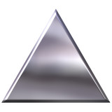3D Silver Triangle poster