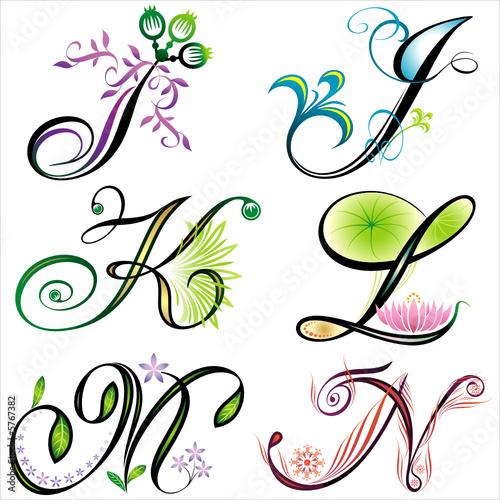 n alphabet design  Vektor: alphabets elements design -