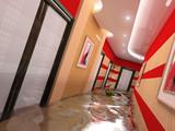 the flooding corridor interior (3D image) poster