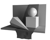 educationary geometry still life image (3D) poster