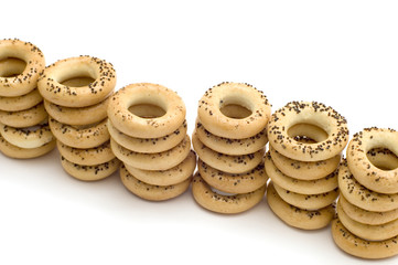 object on white - food - bagel