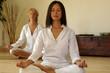 Leinwandbild Motiv Due Donne meditano