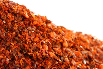 closeup shot of Aleppo Flakes red chillie pepper