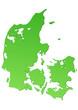 Carte du Danemark verte