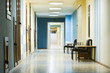 reception in hospital with corridor