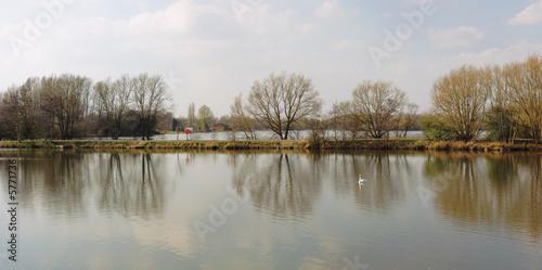 poster of lake water kingsbury water park warwickshire midlands