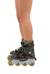 Roller blades and legs
