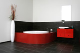 Red bathroom, Japanese style room