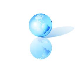 Terre 3D - bleu