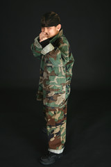 Filipino Boy in Fatigues