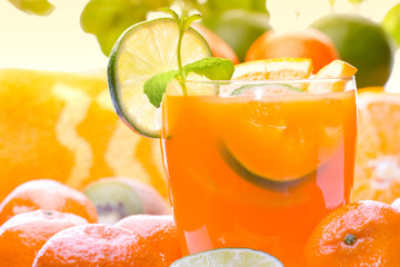 Fresh citrus drink (margarita, tequila sunrise etc) or juice