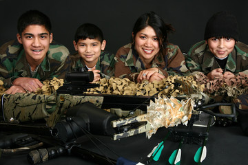Filipino Family in Camo
