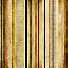 Grunge striped background over canvas texture