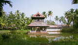 temple complex in kochi, kerala, india poster
