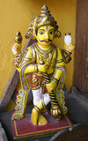 statue of hindu god, jain temple, south india poster
