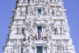 ancient hindu temple in pushkar, india poster