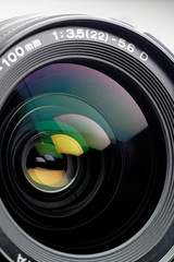 Camera lens closeup: this sample is from an SLR