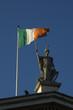 Statue and Irish Flag