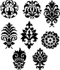 vector ornaments. decor elements for designers
