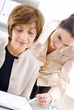 Businesswomen working poster