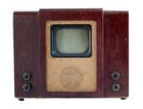 Old soviet tv set poster