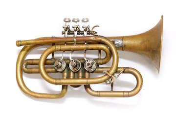 Old vintage trumpet