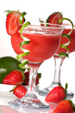 Strawberry Daiquiri cocktails. Most popular cocktails series.. poster