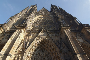 Cathedral of St Vitus. Prague, Czech republic, Europe.