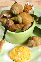 Whelks (bulot) or sea snails with mayonnaise