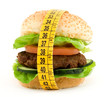 hamburger with meter diet concept