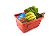 shopping basket full with freshness daily products like food