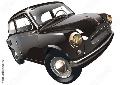 Soviet retro car isolated with Clipping Path