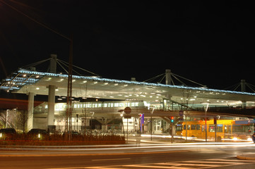 Train station by night