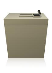 Urne d'élection (reflet)