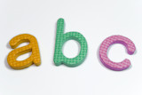 abc colorful foarm letters for learning to read poster