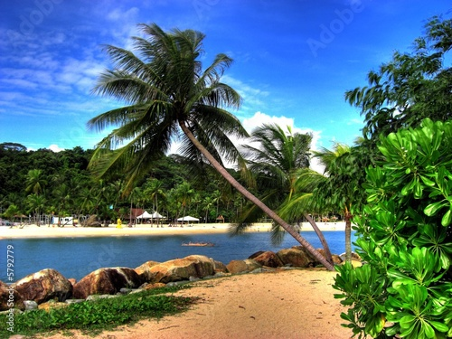 Fotobehang Singapore Singapore - Sentosa Island (Siloso Beach)