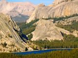 Sheer cliffs above Tenaya Lake in Yosemite National Park poster