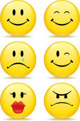 A Series of Emotion Happy Faces