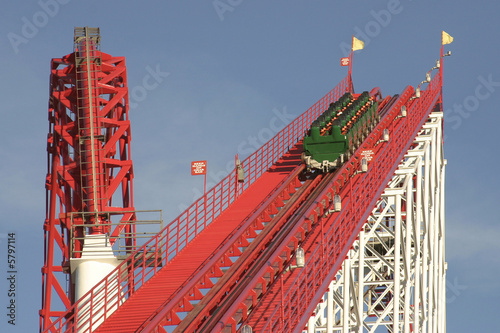 Roller Coaster and Car - 5797114