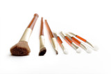 Make-up brushes and applicators poster