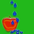 Apple with water drops 3