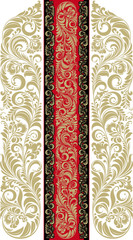 Floral pattern in the traditional Russian style.