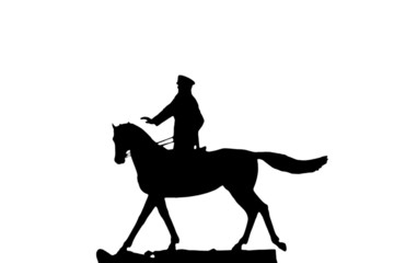 silhouette of military man