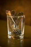 café bar comptoir cuillière pot verre sucre salon traiteur poster