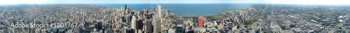 Fotobehang Grote meren panoramique 360° de Chicago