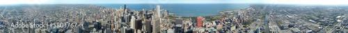Poster Grote meren panoramique 360° de Chicago