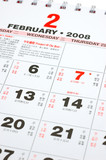 Close up of lunar calendar 2008, the month of chinese new year poster