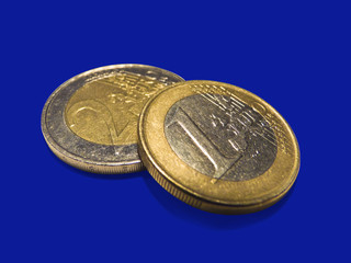 Eurocoins isolated over white