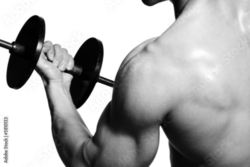 Biceps. Sport exercising for successful people.