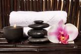 Fototapety Essential body massage oils in bottles for bodycare
